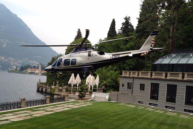 helicoptère lac de come