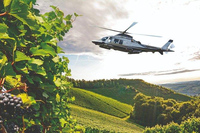 Vol en hélicoptère en Toscane + visite de vignoble